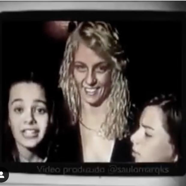 Carla Perez relembra momentos com Sandy e Junior (Foto: Reprodução/Instagram)