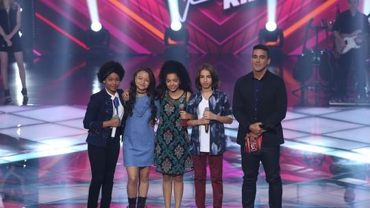 Time Ivete: Franciele Fernanda e Luis Arthur Seidel seguem na competição do 'The Voice Kids'