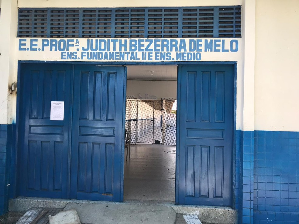 Escola Estadual Professora Judith Bezerra de Melo, em Natal. — Foto: Ayrton Freire/Inter TV Cabugi