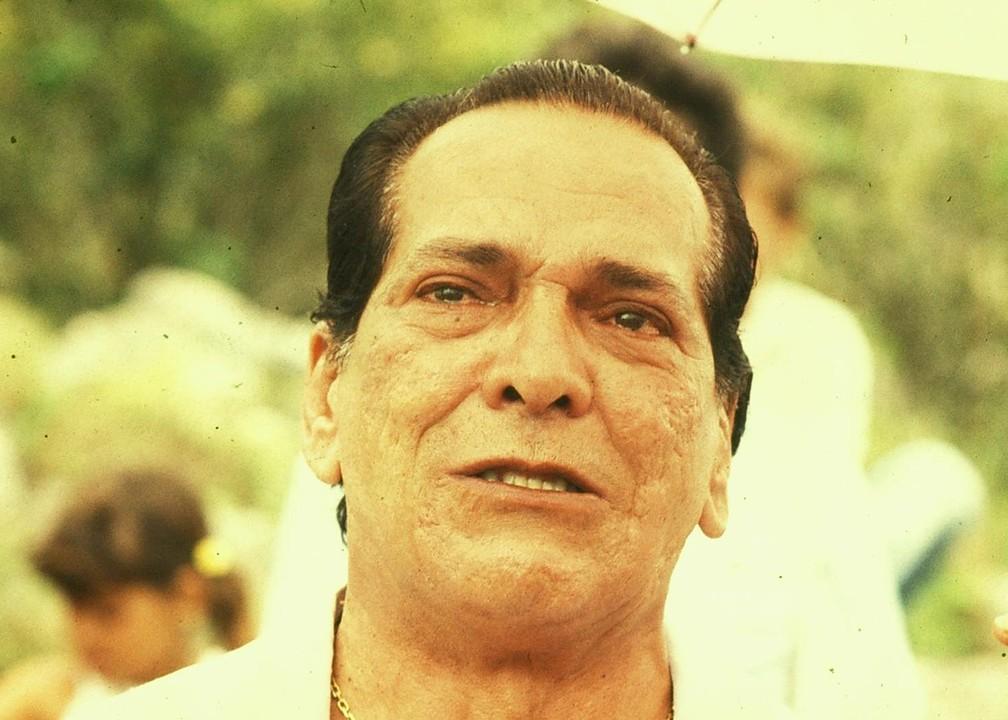 Lúcio Mauro como o personagem Dr. Quindim na minissérie 'O pagador de Promessas', de 1988 — Foto: Acervo TV Globo