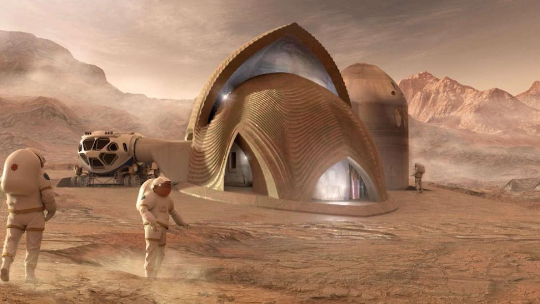 Projeto selecionado pela NASA com modelo de casa em Marte (Foto: Divulgação/NASA)