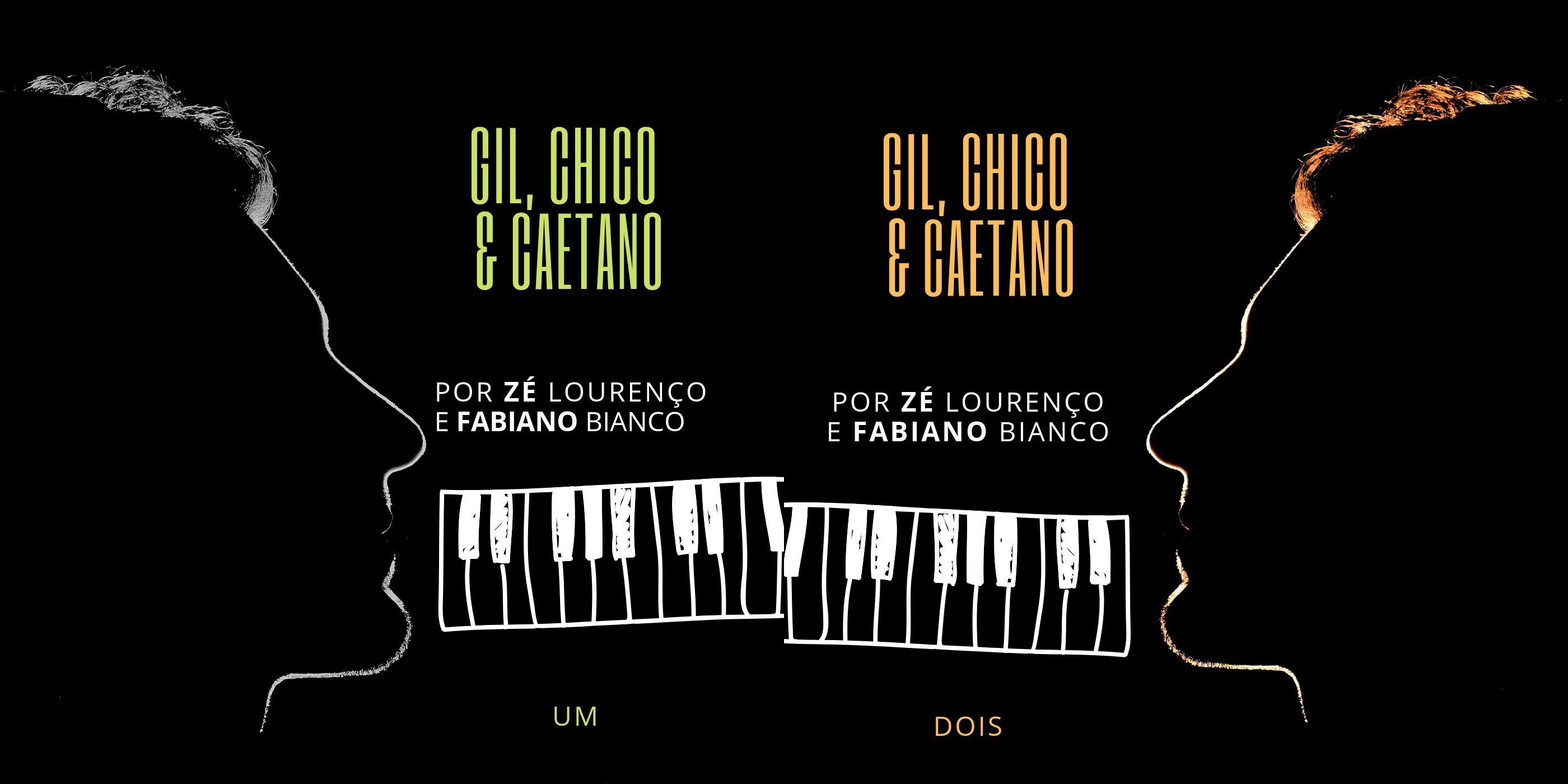 Gilberto Gil, Chico Buarque e Caetano Veloso têm obras entrelaçadas em disco duplo de cantor com pianista