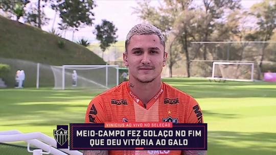 """Vinícius se apega a torcida por virada do Atlético-MG: """"O 'Eu Acredito' vai prevalecer"""""""