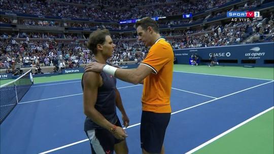 Del Potro supera Nadal em revanche e volta à decisão do US Open após 9 anos