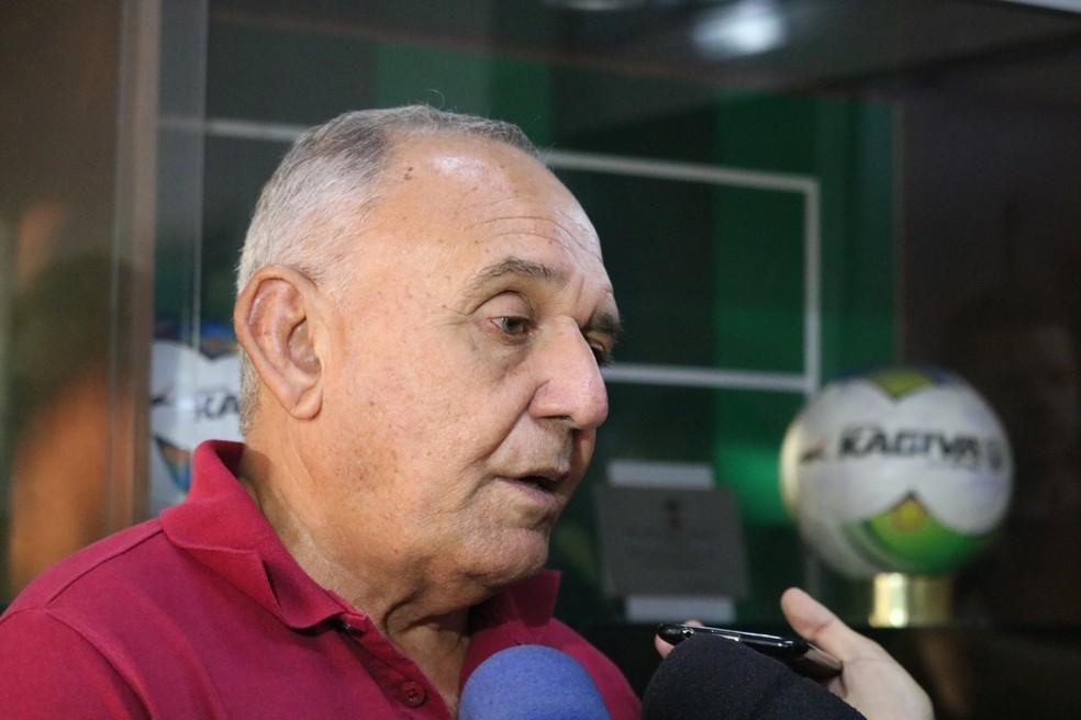 Vicente Medeiros, diretor técnico do Flu-PI — Foto: Stephanie Pacheco/GloboEsporte.com
