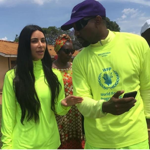Kim e Kanye em Uganda (Foto: Instagram/Reprodução)