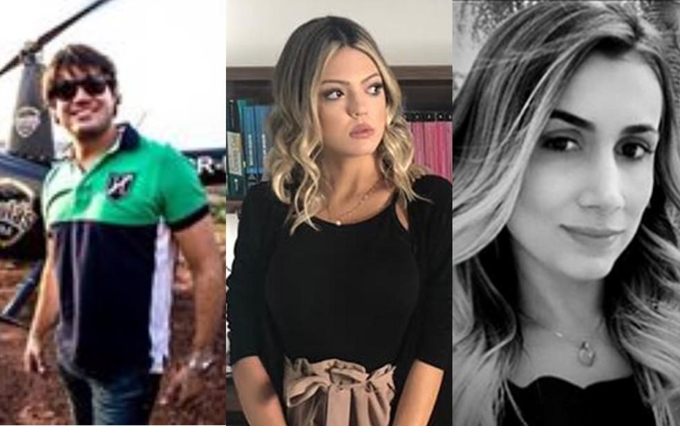 Ricardo, Mickaelly e Miriam morreram na queda de helicóptero em Buriti Alegre, Goiás — Foto: Reprodução/Facebook