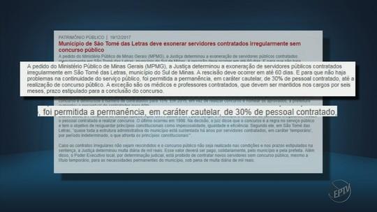 Justiça determina exoneração de servidores contratados em São Tomé das Letras, MG