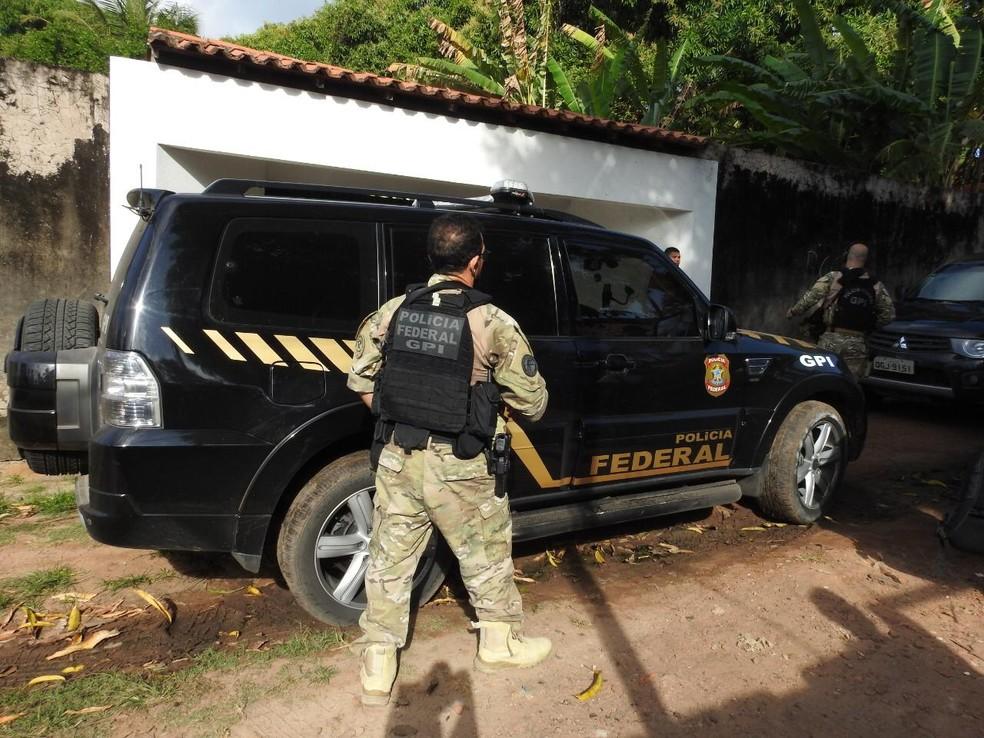 Polícia Federal em combate a tráfico de armas e drogas no Maranhão — Foto: Divulgação / Polícia Federal