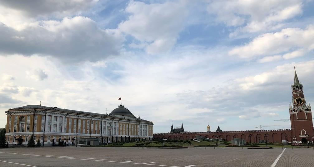 Kremlin, em Moscou (Foto: Arquivo pessoal/Sandra Annenberg)