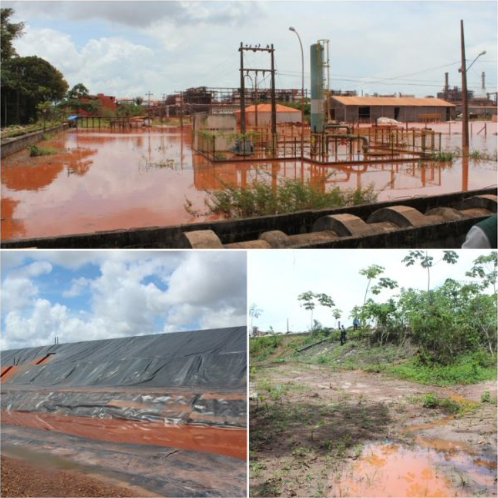 O MPPA fez vistoria nas áreas operacionais da Hydro Alunorte e entorno da empresa, em Barcarena (PA). — Foto: Divulgação / MPPA