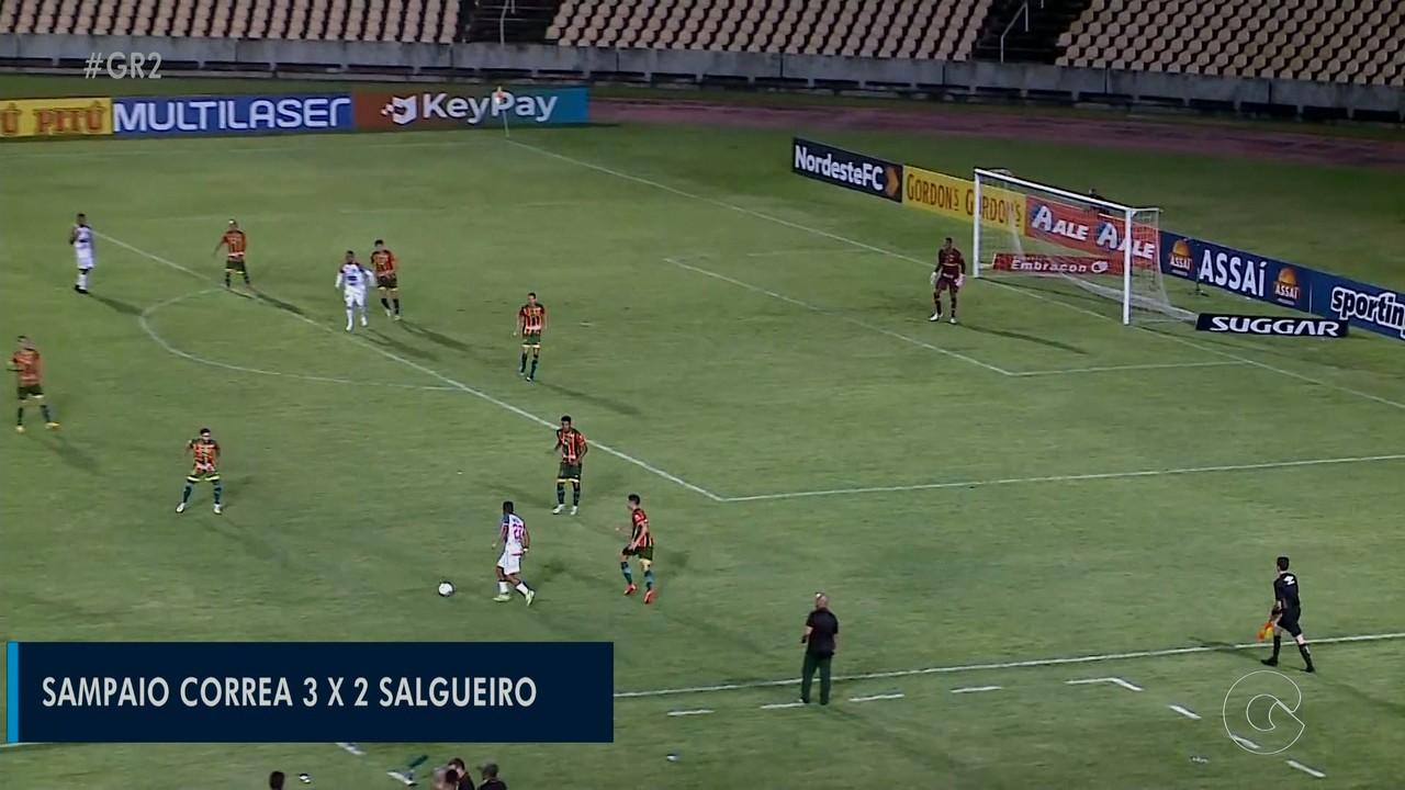 Com dois gols de Ciel, Salgueiro dá trabalho, mas amarga derrota contra o Sampaio Corrêa