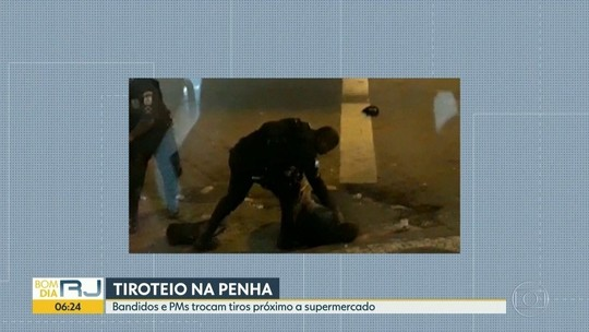 Clientes de supermercado se jogam no chão durante tiroteio no Rio