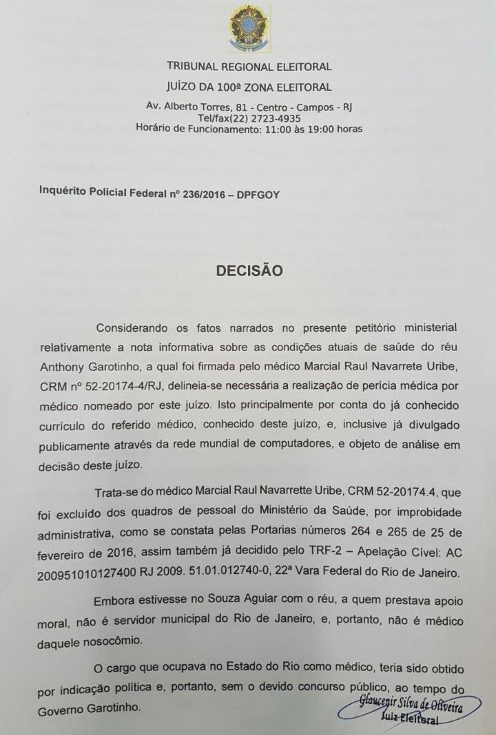 A decisão do juiz