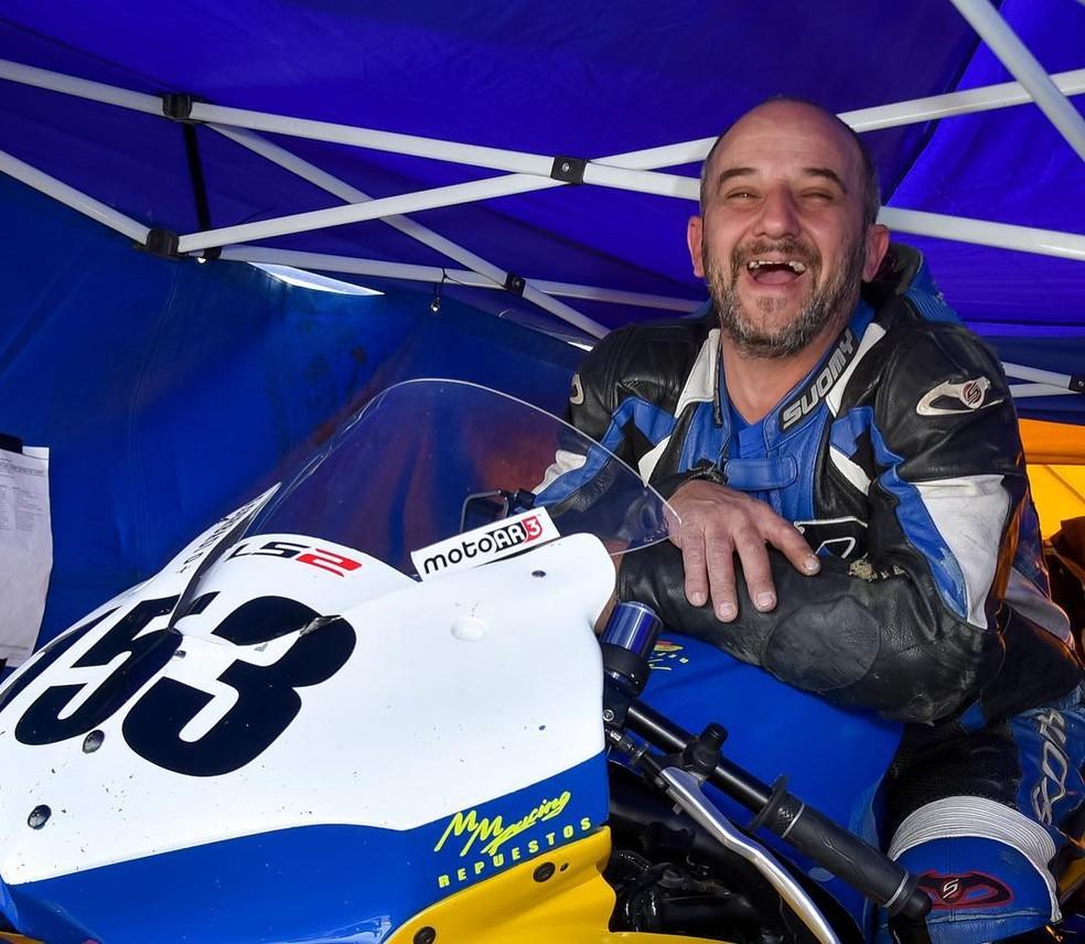 Piloto Gabriel Gerbasi, de 44 anos, que morreu em prova do motociclismo na Argentina (Foto: Superbike Argentino)