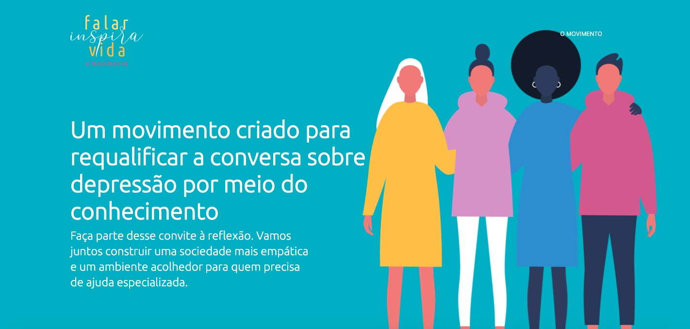 Interface do site do movimento Falar Inspira Vida (Foto: Reprodução/www.falarinspiravida.com.br/)