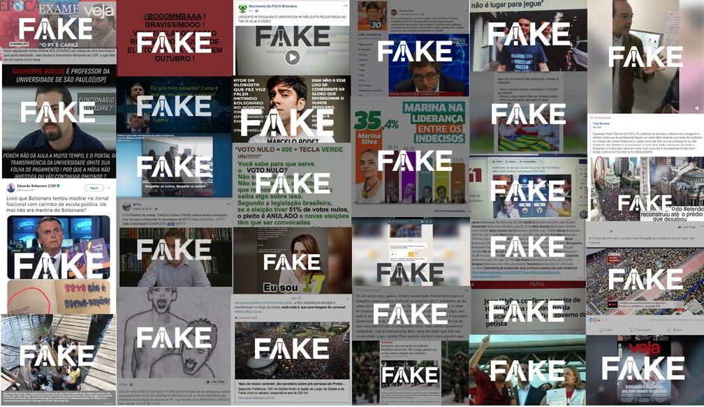 Boatos checados pela equipe do Fato ou Fake desde o início da campanha — Foto: Rodrigo Cunha/G1