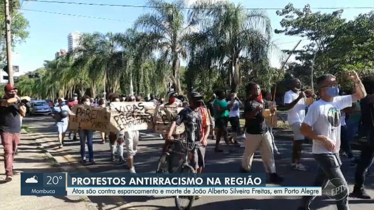 Região registra atos contra espancamento e morte de João Alberto Silveira Freitas