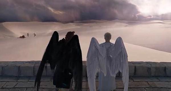 David Tennant e Michael Sheen em 'Good Omens' (Foto: Divulgação)