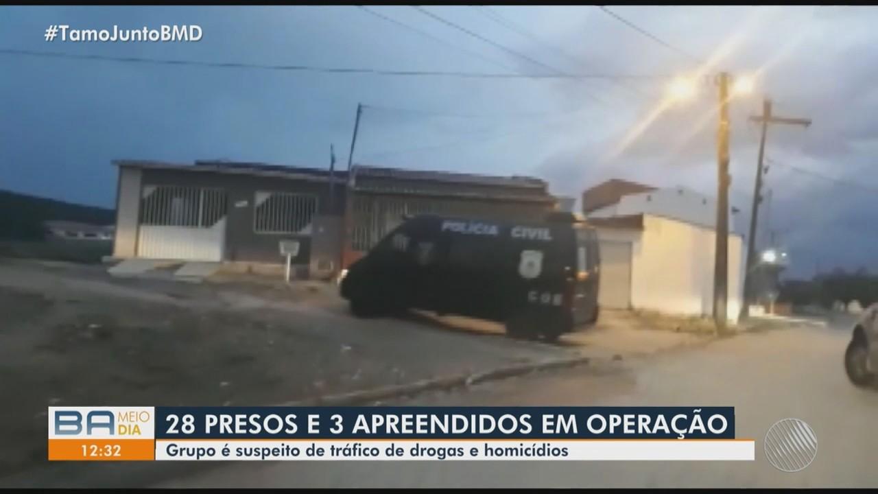 Polícia Civil prende 28 pessoas em operação realizada no interior, nesta terça-feira