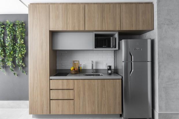 Apê tem conforto, funcionalidade e estilo em apenas 32 m² (Foto: Thiago Travesso)