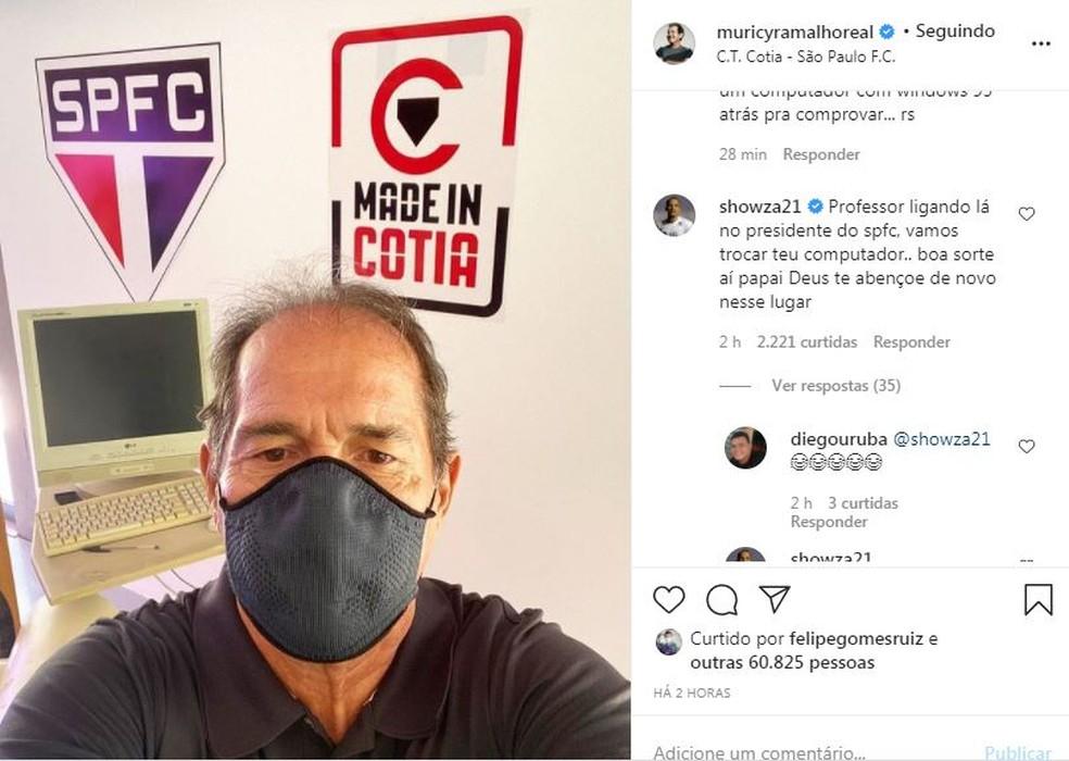 Muricy é alvo de brincadeiras nas redes sociais — Foto: Reprodução