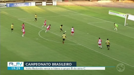 Volta Redonda vence o Tombense por 2 a 0 e segue invicto no grupo B da Série C