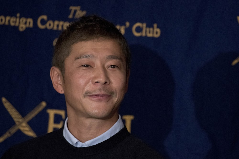 Yusaku Maezawa, entrepreneur and CEO of ZOZOTOWN and SpaceX BFR's first private passenger, speaks during a press conference at the Foreign Correspondents' Club of Japan in Tokyo on October 9, 2018. It was confirmed in September that Maezawa will be the fi (Foto: NurPhoto via Getty Images)