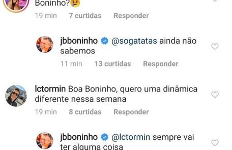 Boninho responde internauta no Instagram Reprodução