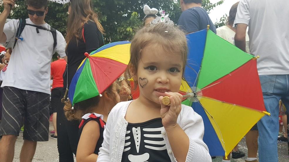 Belo Horizonte tem bloquinhos para a criançada  — Foto: Raquel Freitas/G1
