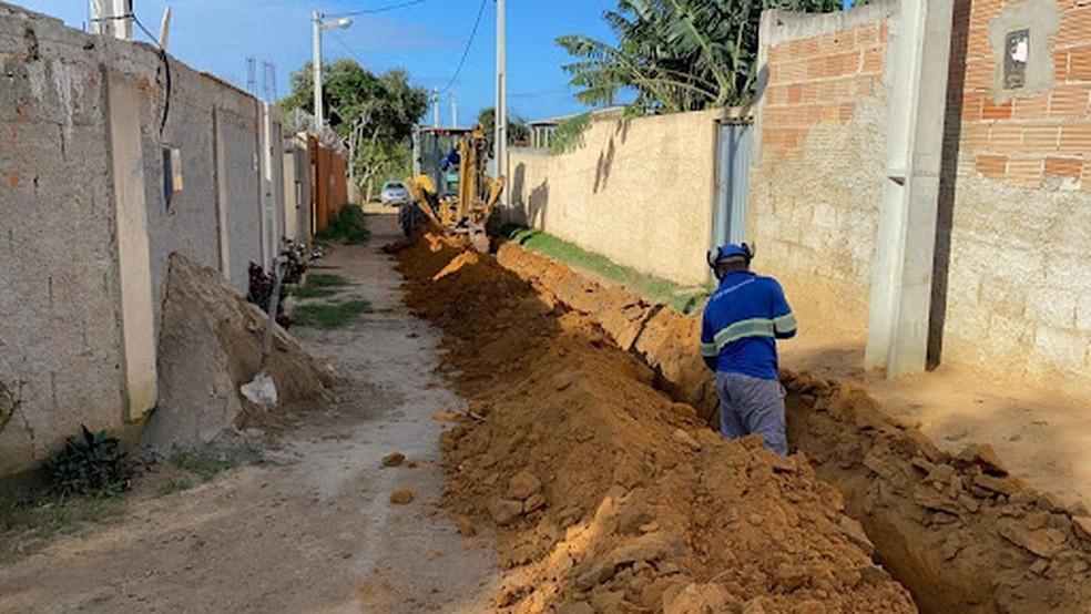Moradores da Rasa, em Búzios, recebem rede de água tratada — Foto: Divulgação/Prolagos