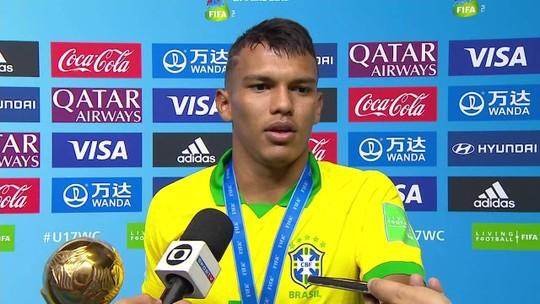 """Melhor jogador do Mundial Sub-17, Veron diz que esperava Bola de Ouro: """"Eu estava sentindo sim"""""""
