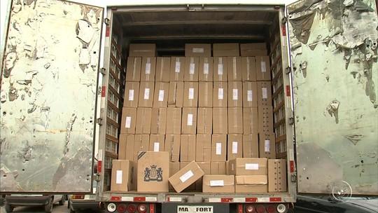 Milhares de cigarros contrabandeados são apreendidos pela polícia