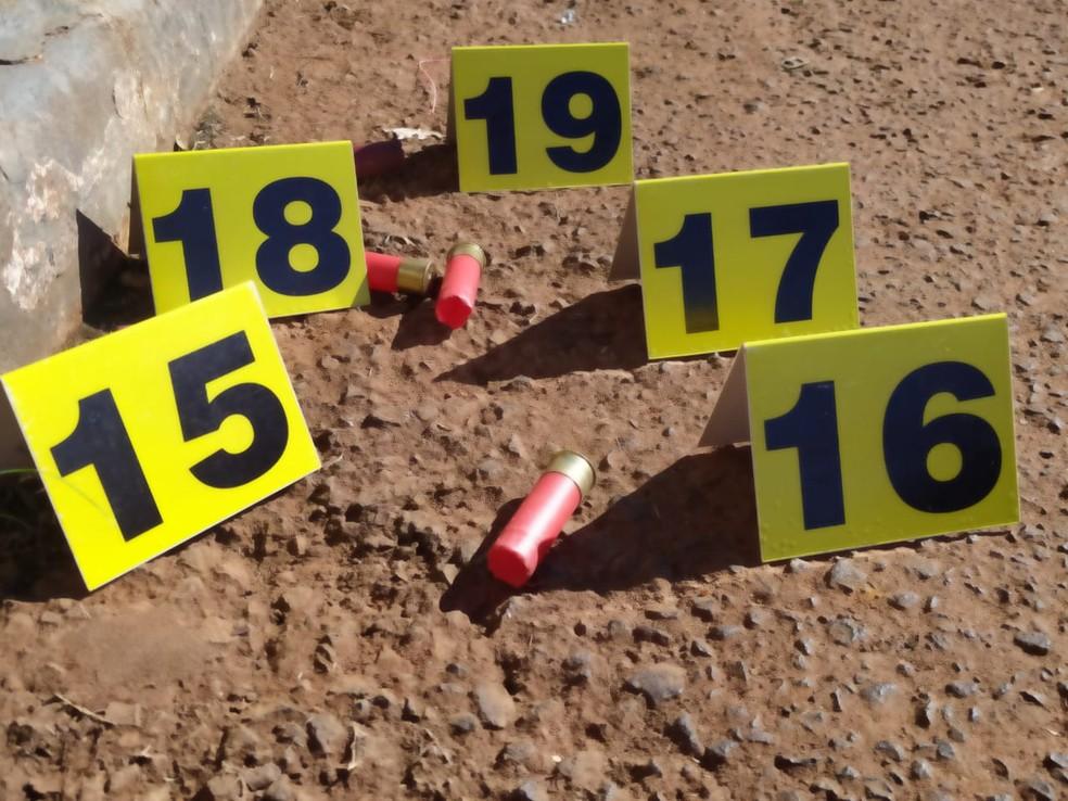 Segundo a polícia, foram usados fuzis durante o assalto em Campo Bonito — Foto: Sidney Trindade/RPC Cascavel