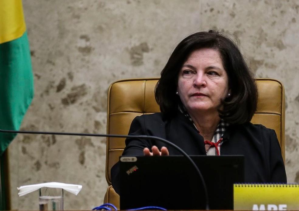 A procuradora-geral da República, Raquel Dodge, durante sessão no Supremo Tribunal Federal (STF) — Foto: José Cruz/Agência Brasil