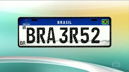 Placas do Mercosul perderão símbolos de município e estado, decide Ministério das Cidades