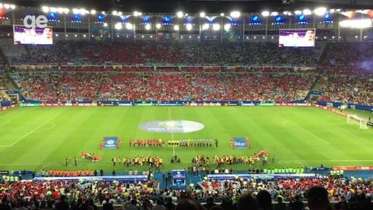 Em Chile x Uruguai, Maracanã tem clima de Copa América pela 1ª vez e vê o melhor público do torneio