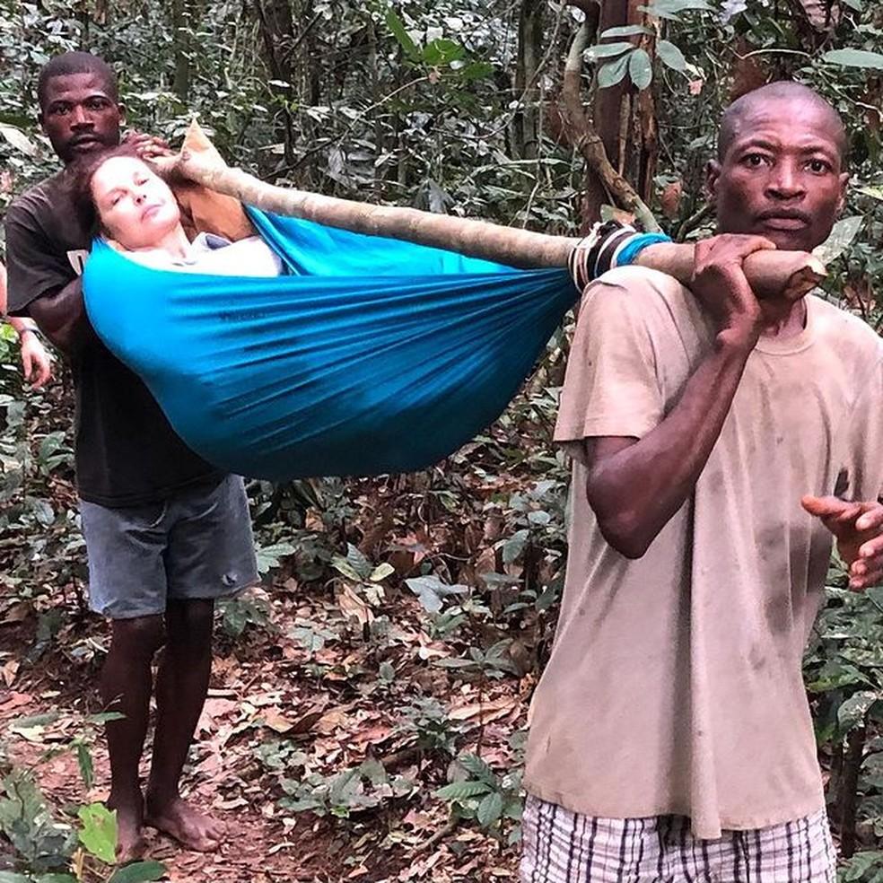 Ashley Judd mostra fotos de acidente que sofreu no Congo e faz relato: 'Poderia ter perdido a perna' — Foto: Reprodução/Instagram