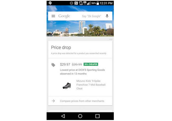 Google Now ganhou card de promoção de produtos (Foto: Divulgação)