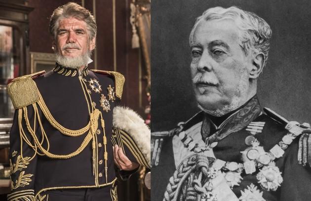 Jackson Antunes será Duque de Caxias, que serviu como mestre de armas a Dom Pedro II e de quem se tornou amigo (Foto: Globo e reprodução)