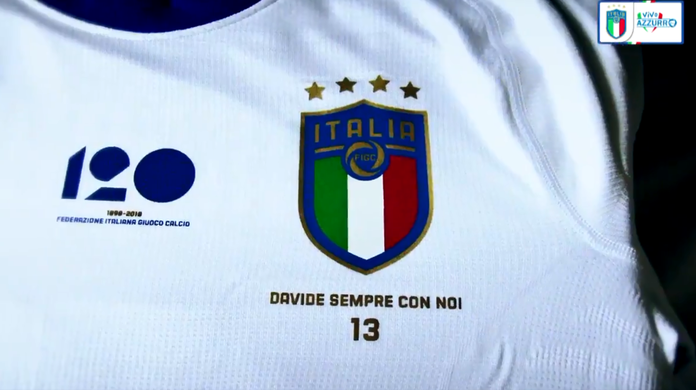 cf66fced7d Davide sempre conosco  Itália homenageará Astori em camisa contra Argentina