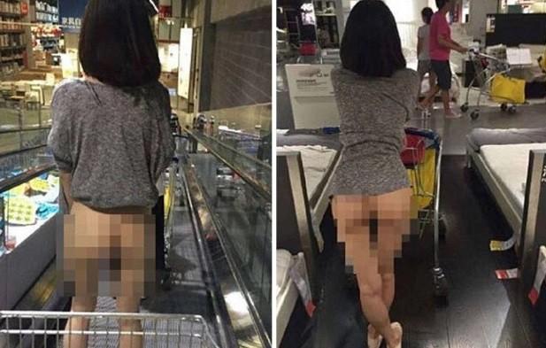 A cliente sem calça na Ikea de Pequim