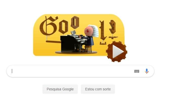 Doodle do Google homenageia Bach (Foto: Divulgação)