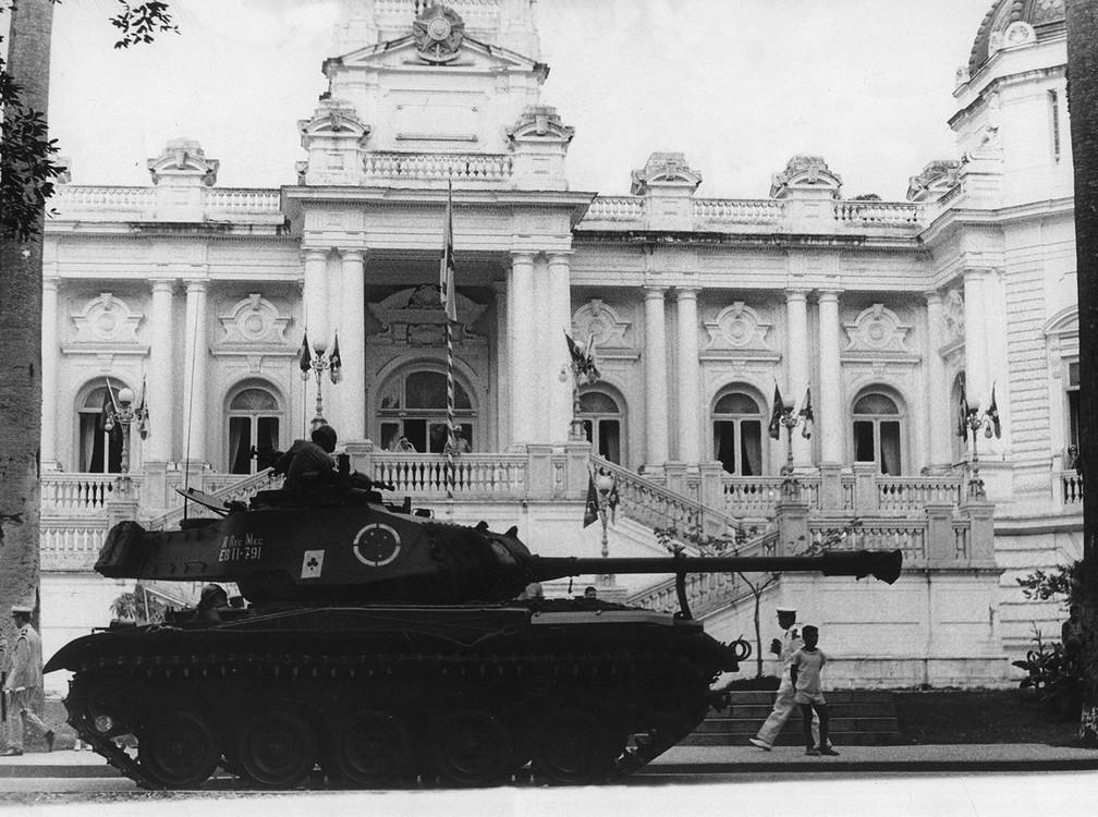 Palácio da Guanabara em 1º de abril de 1964 — Foto: Arquivo/Estadão Conteúdo