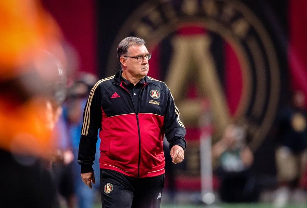 Aos 54 anos, Tata Martino é o técnico do Atlanta United (Foto: Reprodução Twitter)