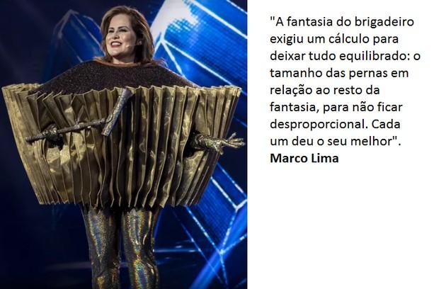 Marco detalha fantasia de Renata Ceribelli (Foto: Globo)
