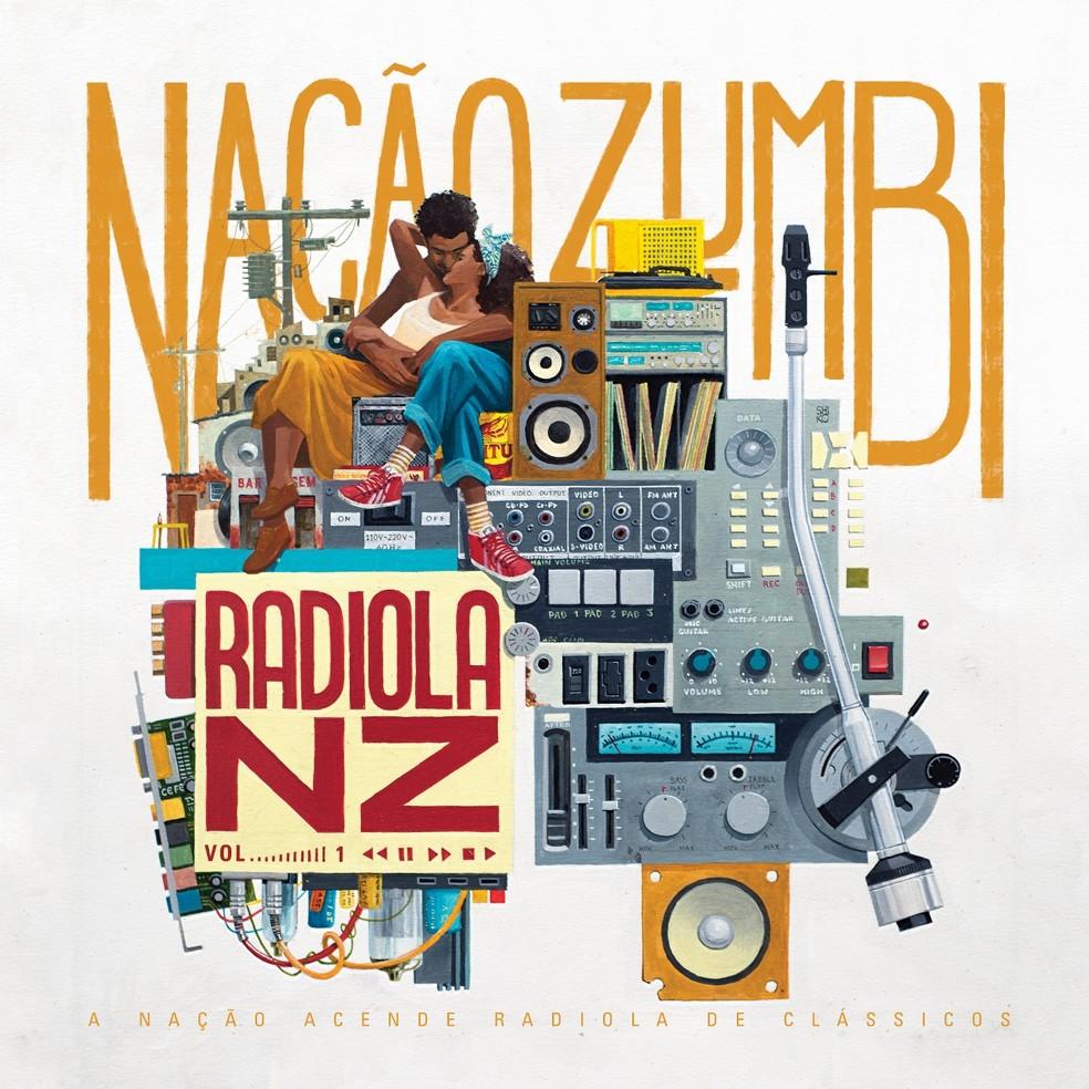 Capa do álbum 'Radiola NZ Vol. 1', da Nação Zumbi (Foto: Arte de Shiko)