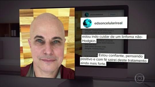 Edson Celulari se diz otimista contra câncer: 'em busca da vitória, dia a dia'
