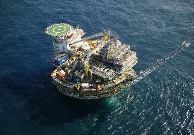 Plataforma de petróleo do pré-sal ; Petrobras ;  (Foto: Arquivo/Agência Brasil)