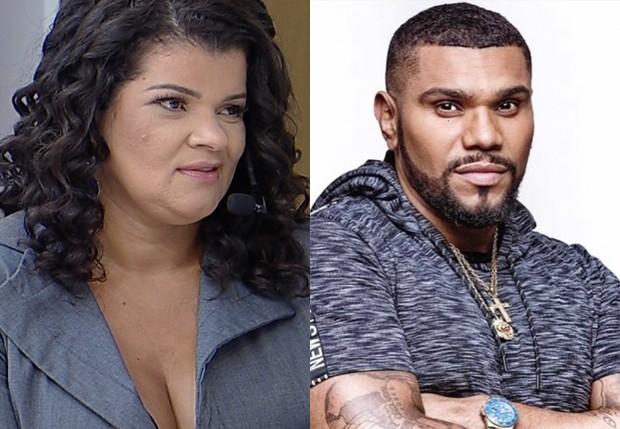 Branka Silva e Naldo Benny (Foto: Divulgação/RedeTV! e Reprodução)